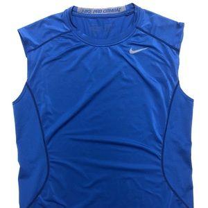 Nike dri fit tank top size medium blue